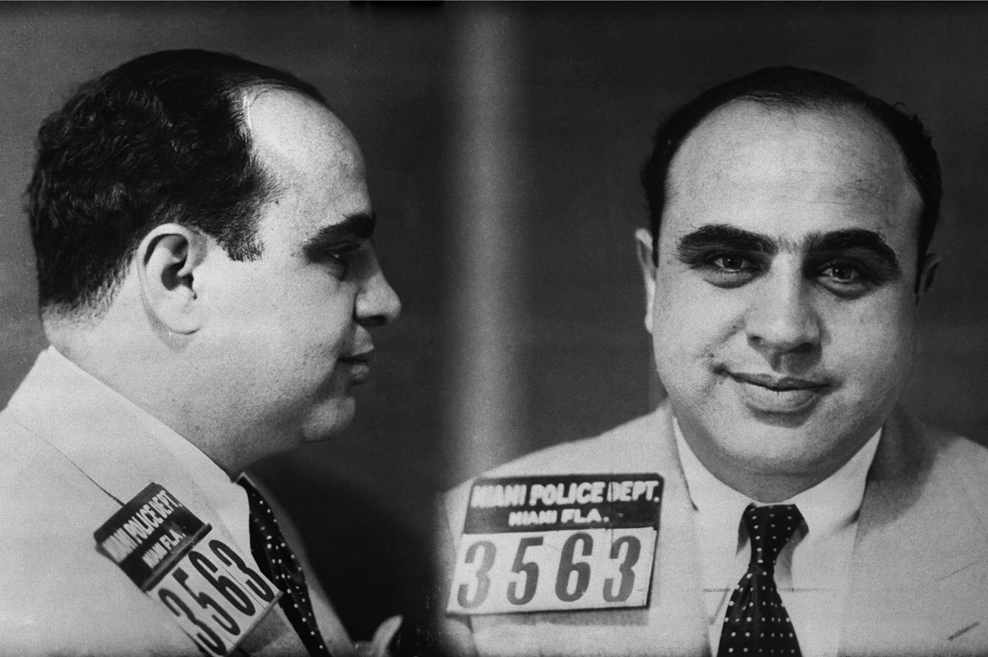 Mug Shot of Gangster Al Capone