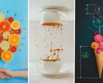 Chutné zátišia vytvorené zo sladkostí a kávy sú fantastické