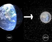 Video ukazuje, ako človek postupne od roku 1957 znečisťuje vesmír