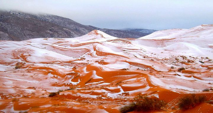 FOTO: Na Sahare napadol sneh prvýkrát po 37 rokoch