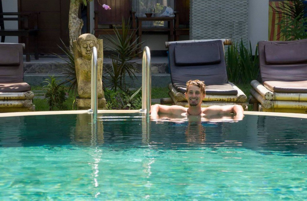 relaxing in the pool - Lombok, Indonezia