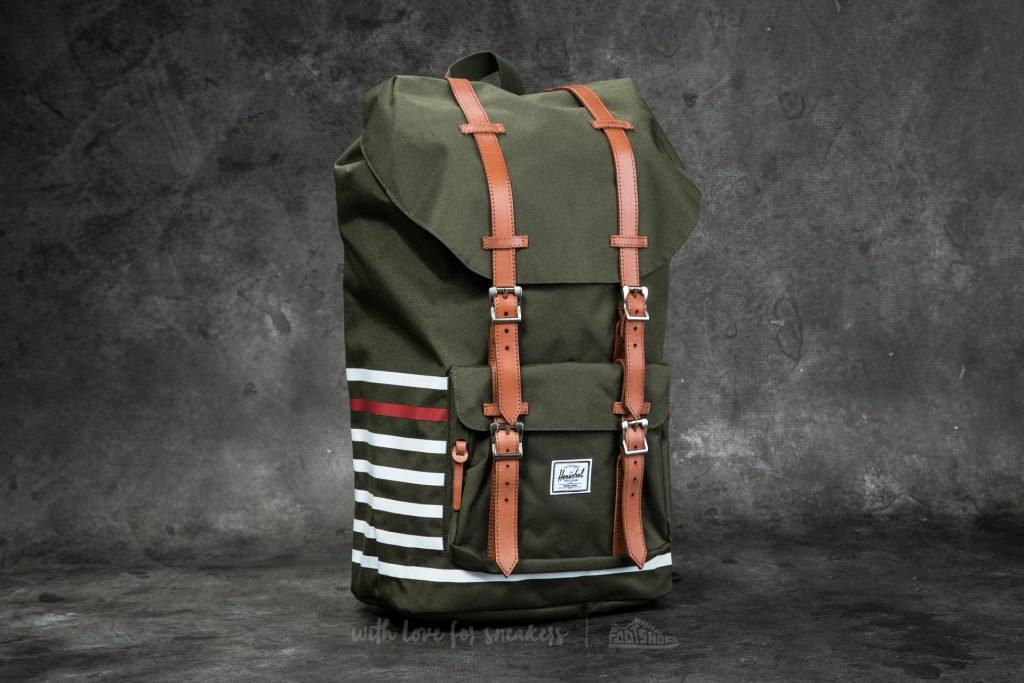 herschel-supply-co-little-america-backpack-forest-night-offset-stripe-veggie-tan-leather